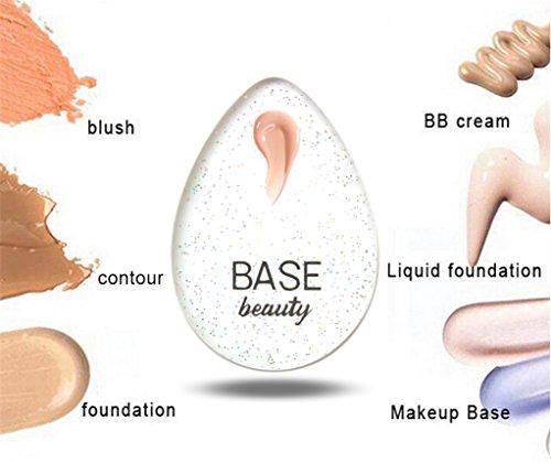 Base Beauty Silicone Sponge Diamond Blender Flawless Makeup Applicator Teardrop Shape For Hygienic Application & Less Makeup Usage