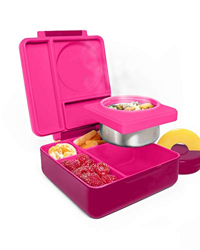 a24db9b08f3e OmieBox Bento Box for Kids | Insulated and Leak Proof Lunch Box for Hot &  Cold Food with Thermos Food Jar - 3 Compartments, Two Temperature Zones -  ...