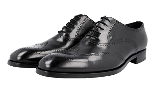 Brogue 2EB124 Prada Leather Men's Business Shoes Full qtxx7vZA