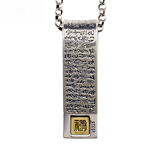 c32d79a1dc43 Chic HFJ YIE H Cadena de clavícula de plata tailandesa cadena personalidad  hombres y mujeres retro cuerpo Amuleto