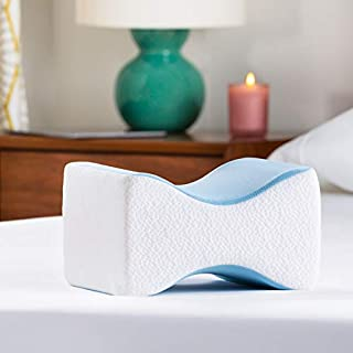 Linenspa Orthopedic Gel Memory Foam Knee Perfect for Back, Leg, Hip and Joint Pain-Provides Pregnancy Support-Aligns The Spine for Better Pillows