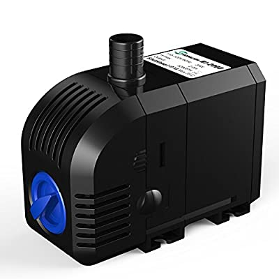 SONGJOY 528 GPH Submersible water Fountain Pump 35W for Outdoor Pond Aquarium Fish Tank Hydroponics With 4.9ft Power Cord