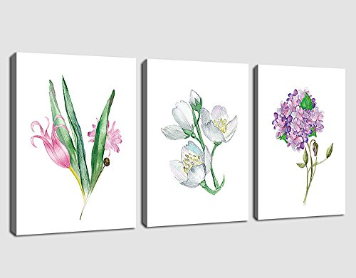 Canvas Wall Art Flowers Painting Picture Prints Simplicity C