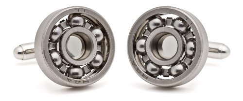 Tokens & Icons Steel Ball Bearing Cufflinks (12BB)
