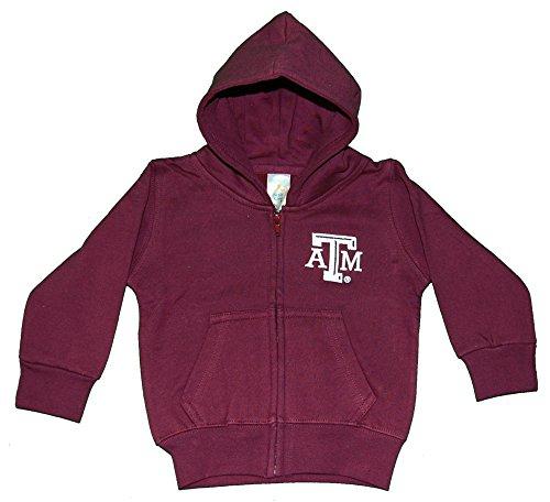Little King NCAA Texas A&M Aggies Full Zip Hooded Jacket, 2T, Maroon