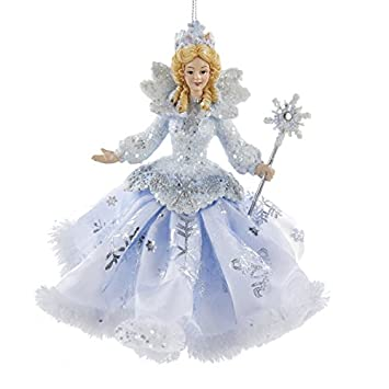 Amazon.com: Kurt Adler Frosted Kingdom Snow Queen Fairy Ornament 6 ...
