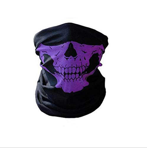 Paintball Face Mask - 48.5cm 25cm Skull Half Face Bandana Skeleton Ski Motorcycle Biker Paintball Mask Scarf Unisex - Glasses Scarf Anti Halo Kids Face Halloween Mask