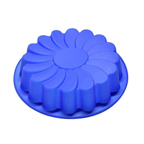 [해외]Botrong 무작위 컬러 실리콘 대형 꽃 케이크 금형 초콜릿 비누 캔디 젤리 곰팡이 베이킹 팬/Botrong Random Color Silicone Large Flower Cake Mould Chocolate Soa