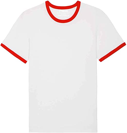 Camiseta para hombre de 100% algodón orgánico con cuello redondo ...