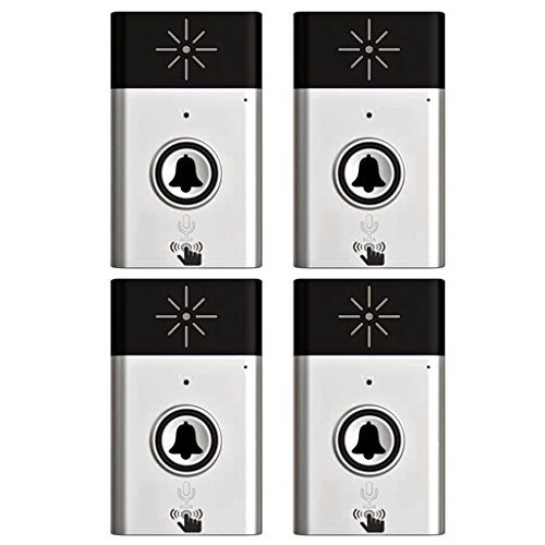 (Jili Online 300M Wireless Doorbell Door Chime Button Bell Voice Intercom Doorbell with 1 Transmitter+3 Receivers)
