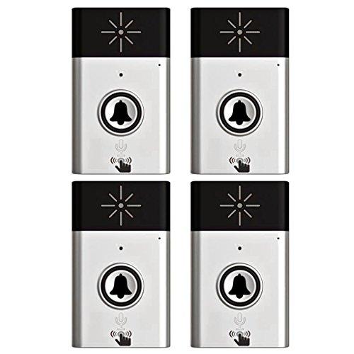 Jili Online 300M Wireless Doorbell Door Chime Button Bell Voice Intercom Doorbell with 1 Transmitter+3 Receivers