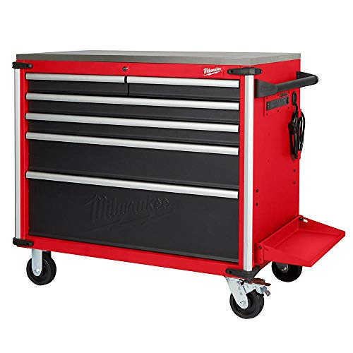 - 40 in. W x 22.1 in. D 6-Drawer Mobile Workbench with Stainless Steel Top