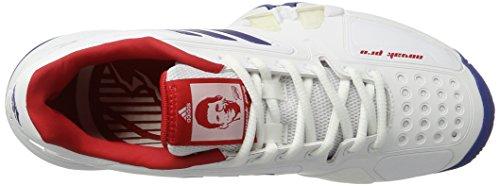 Adidas Mannen Novak Per Tennisschoenen, Veelkleurige Wit (ftwr Wit / Collegiale Royal / Scarlet)