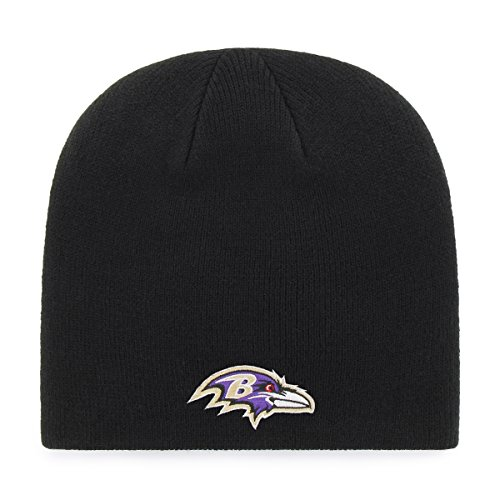 (NFL Baltimore Ravens Men's OTS Beanie Knit Cap, Team Color, One Size )