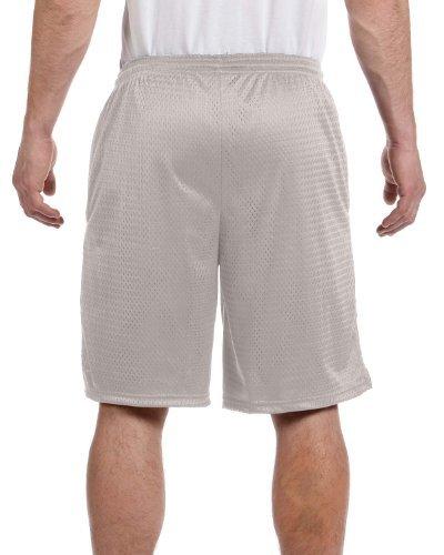 Champion Long Mesh Men's Shorts with Pockets_Athletic Grey_Large