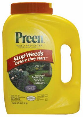 Preen Southern Weed Preventer, 4.25 lb bottle, Covers 1,000 Sq. Ft.
