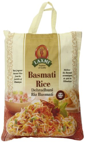 Laxmi All-Natural Aromatic Basmati Rice, 10 Pounds (Best Quality Rice In Pakistan)
