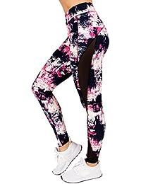 Active Womens Elastic-Band Abstract Mesh Yoga Legging Pants by RAG (Plus-Size)