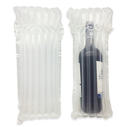 Siger Wine Bottle Protector Wine Shipping 6 Packs Bubble Wrap Bag Sleeves Glass Bottle Inflatable Air Packaging Leak Proof Column Travel Cushioning