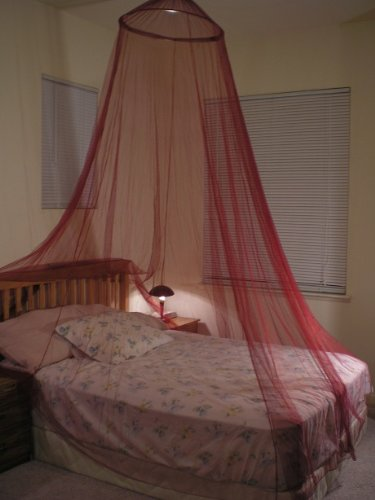Octorose R Burgundy Hoop Bed Canopy Mosquito Net Fit Crib Twin Full Queen