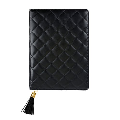 Classic Padfolio - Eccolo Professional Zipper Executive Padfolio and Travel Journal with Classic Ruled Notebook Notepad, Black Cover