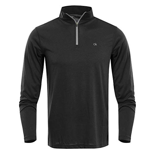 Calvin Klein Golf Men's Harlem TECH 1/4 Zip Black XL for sale  Delivered anywhere in Canada