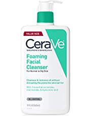 CeraVe Foaming Facial Cleanser | Makeup Remover and Daily Face Wash for Oily Skin |Clear Unscented 19 Fl Oz