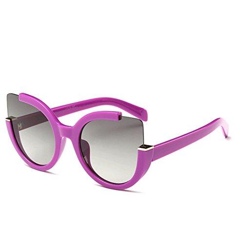 Sinkfish SG80049 Gift Sunglasses for Women,Anti-UV & Fashion - UV400/Fuchsia Frames/Darkgray - Sunglasses Bifocal Dkny