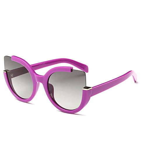 Price comparison product image Sinkfish SG80049 Gift Sunglasses for Women, Anti-UV & Fashion - UV400 / Fuchsia Frames / Darkgray Lens