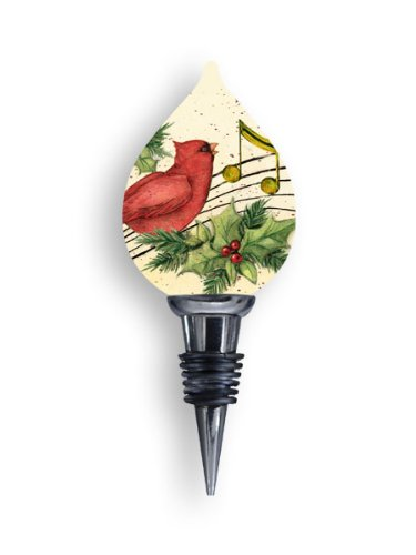 Susan Winget Ne'Qwa Art Holiday Music Christmas Wine Bottle Stopper