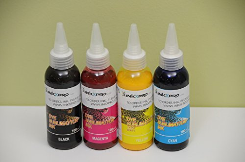 XPRO 4 X 100ml Professional True Color Sublimation ink refills for Epson workforce 3520 3540 3620 3640 7010 7510 7520 7110 7610 7620 printers (For sublimation printing only)