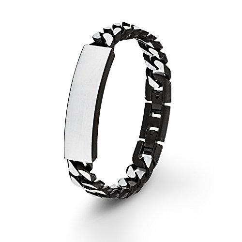 s. Oliver Herren-Armband Identarmband gravurfähig Edelstahl 21.5 cm - 540698