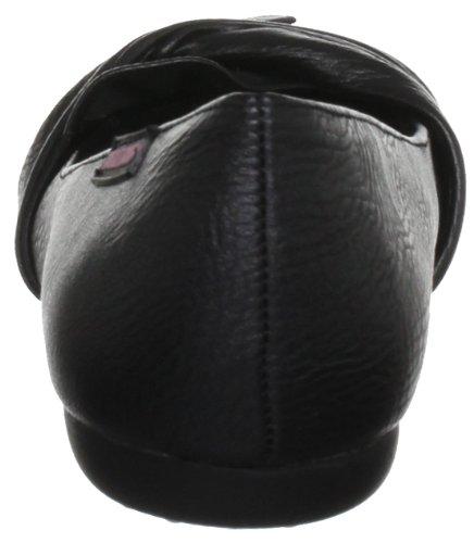 Women's Risky Black Dog Ballet Patent Rocket Flats SUnav48AW