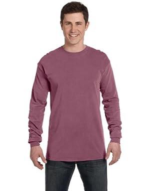 Ringspun Garment-Dyed Long-Sleeve T-Shirt (C6014)- BERRY, M