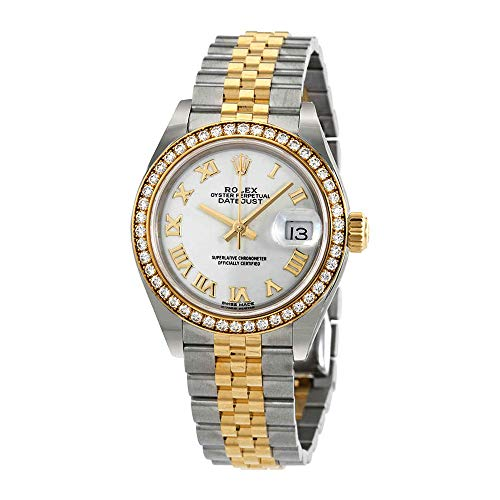 - Rolex Lady-Datejust White Dial Automatic Ladies Steel and 18kt Yellow Gold Jubilee Diamonds Watch 279383WRJ