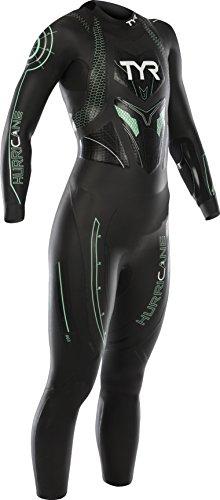 Wetsuits Medium Large - TYR  Women's Hurricane Wetsuit Category 3, Black/Seafoam, Medium/Large