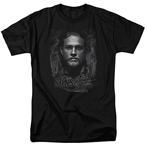Trevco Men's Sons of Anarchy Jax T-Shirt, Black, Large (Sons Of Anarchy Shirt)