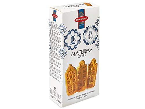 Daelmans Amsterdam Cookies| Dutch Biscuits | Dutch Cookies - 140 g per Box - Each Box has 16 Cookies - Great Dutch Food Gift for him & her