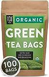 Organic Green Tea Bags | 100 Tea Bags | Eco-Conscious Tea Bags in