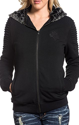 (Black Lava Zip Hood Jacket By Affliction)