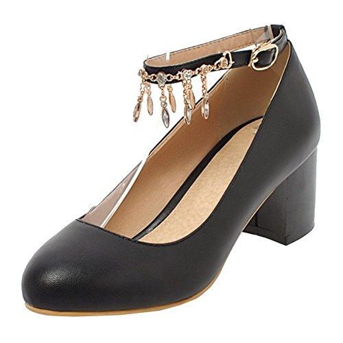 Sandales Femme Compensées 1 Smilice Noir 8RBBU