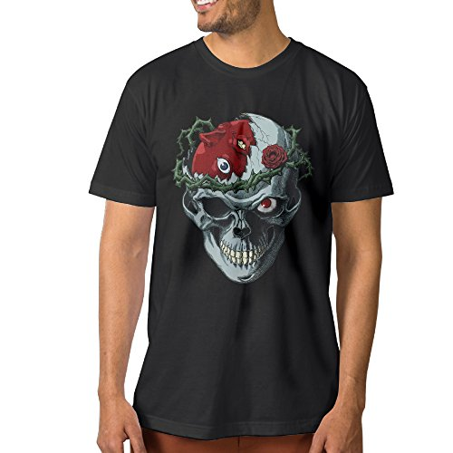 Berserk Skull Bone Men's Fashion T-shirt M Black (Skull Sock Mask)