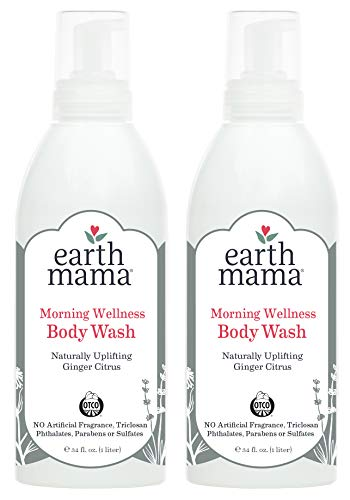 Earth Mama Morning Wellness Body Wash for Pregnancy, 34-Fluid Ounce (2-Pack)