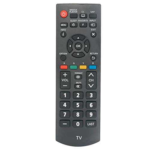 New N2QAYB000820 Replace Remote Control fit for Panasonic Viera LCD LED Plasma TV TC-32A400U TC-39A400U TC-40A420U TC-50A400U TH-50LRU60 TC-L32B6X Tc-l39b6x Tc-32b6p Tc-l39b6p TC-32LB64 TC-L39B6