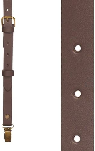 5//8-Inch SuspenderStore Mens Buckle Strap Leather Suspenders Clip