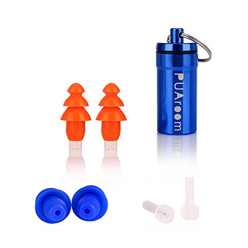 PUAroom Noise Cancelling Ear Plugs Reuable Silicone Ear Protection