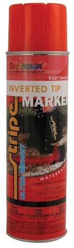 Seymour 20-654 Stripe Inverted Tip Marker, Red Fluorescent