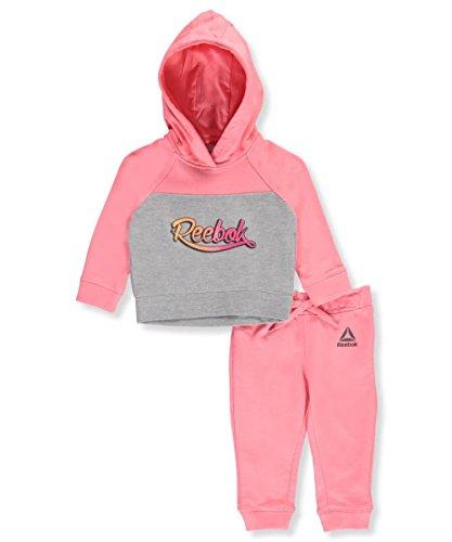 Reebok Baby Girls 2 Piece Athletic Set, 3044-Hot Coral, 12M
