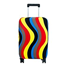 Fvstar Washable Luggage Cover,Suitcase Protective Bag,Luggage Dust Proof Cover (M, Ripple)