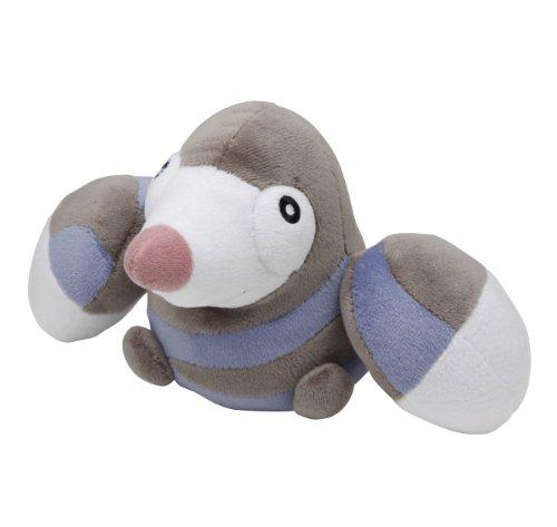 Pokemon Center Best Wishes Black & White Pokedoll Plush Doll - Drilbur/Mogurew